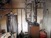Majitel domu, v němž vzplál oheň, se nadýchal zplodin