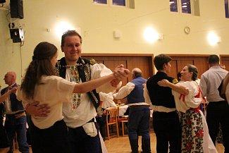 Hostem večera byl folklorní soubor Rozmarýn.