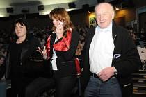 Hosty 54. čtenářské konference byli byl spisovatel a scenárista Arnošt Lustig a ředitelka centra France Kafky Markéta Mališová.