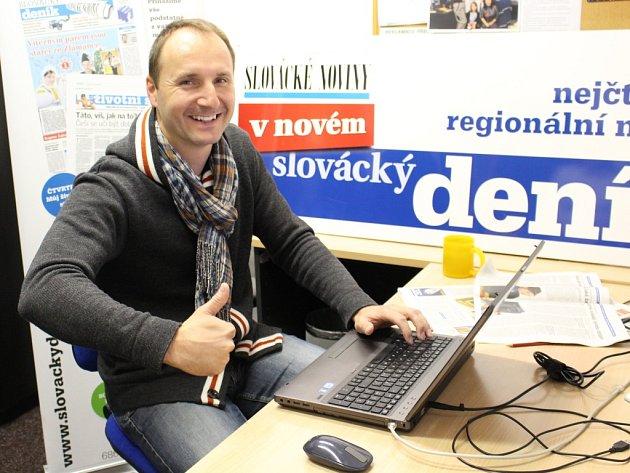 Jiří Hadaš v redakci Slováckého deníku odpovídá čtenářům v ON-LINE rozhovoru.