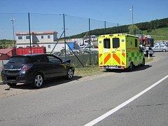 U skládky odpadu v Uherském Brodě se střetla dvě vozidla.