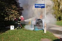 K hořícímu kontejneru ve Zlíně byli hasiči přivoláni včas. Díky tomu se požár nerozšířil i na okolní sběrné nádoby. Škoda byla i přesto vyčíslena na deset tisíc korun.