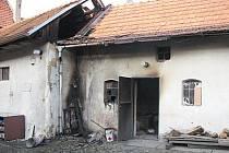Požár v kotelně a na střeše obchodu potravin v Bánově.