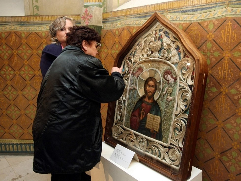 "Výstava pravoslavných ikon"" Živá tradice"" v kapli Cyrilka ve Velehradě."