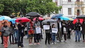 Demonstrace v Uherském Hradišti za nezávislost justice - 28. května 2019
