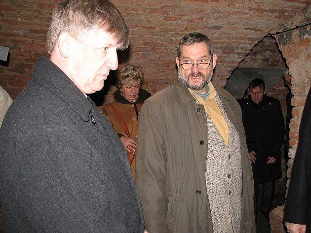 Velehrad navštívil ministr kultury Václav Riedlbauch