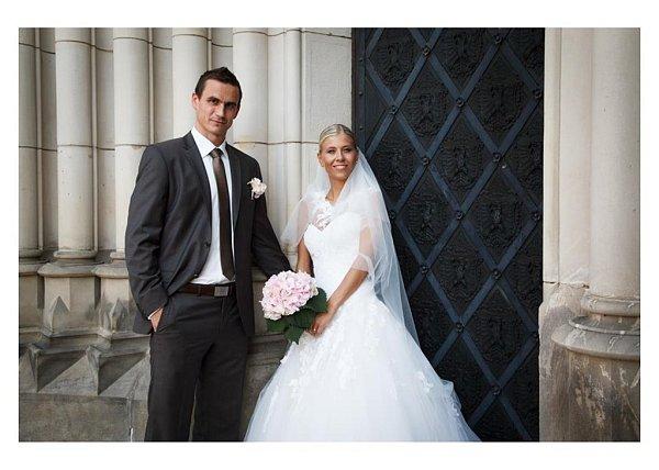 Soutěžní svatební pár číslo 260 - Iva a Tomáš Pítrovi, Olomouc.