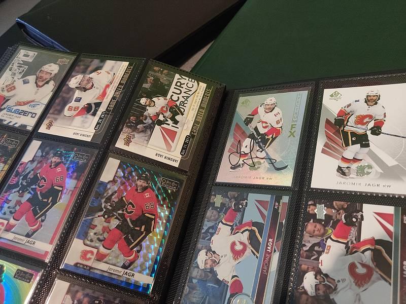 Sběratelské karty Calgary Flames.