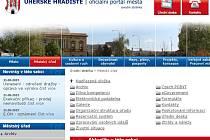 Webové stránky města Uherské Hradiště (detail). Ilustrační foto