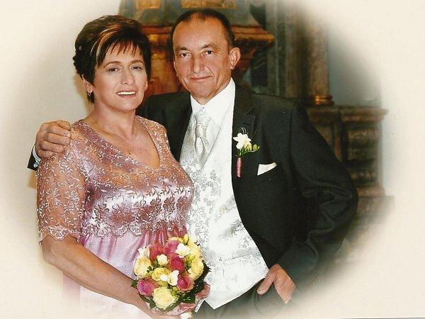 Soutěžní svatební pár číslo 41  –  Ludmila a Josef Abrahámovi, Uničov
