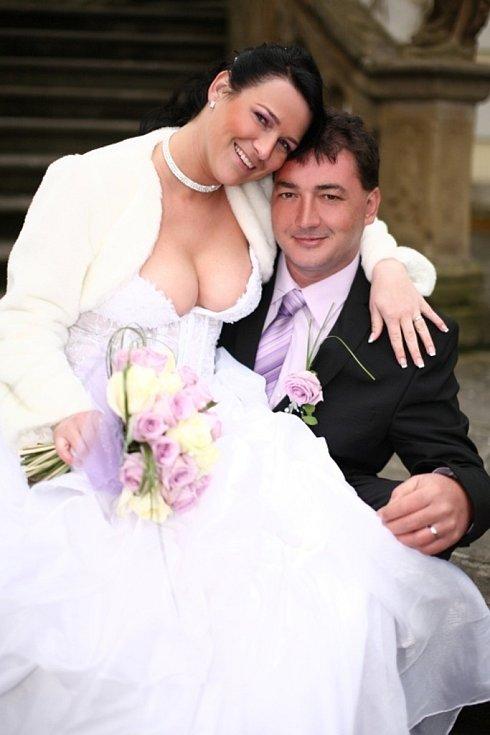 Soutěžní svatební pár 96 - Adéla a Martin Gajovi, Chropyně.