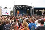 Koncert pro Ukrajinu. Jeho protagonisty byla slovenská kapela Tretí deň a americká skupina SonicFlood.