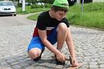 Hezké počasí sobotního dopoledne vylákalo rodiny sdětmi na 14. ročník Hradišťských chodníčků.