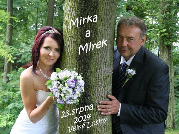 Soutěžní svatební pár číslo 154 - Miroslava a Miroslav Cábovi, Šumperk