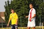 1. FC Slovácko - AS Trenčín 0:1. Přípravný zápas v Ratíškovicích. Vlevo Roman Haša.