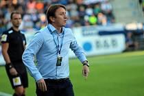 Trenér Slovácka Michal Kordula v derby se Zlínem