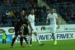 Fotbalisté Slovácka (v bílých dresech) ve 4. kola MOL Cupu přivítali druholigovou Viktorii Žižkov.