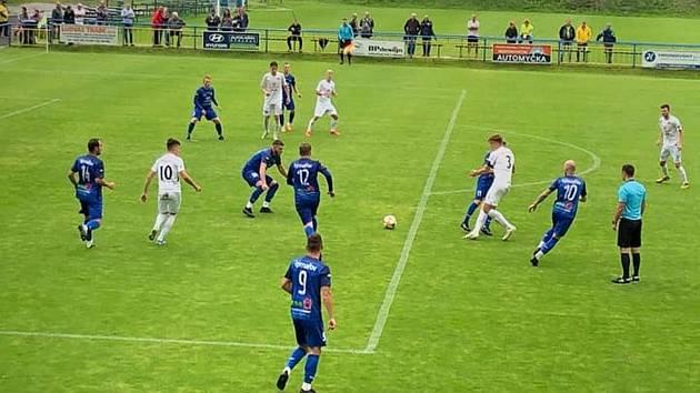 Fotbalisté Slovácka B zvítězili na hřišti divizního Rýmařova 7:2. Foto: facebook SK Jiskra Rýmařov