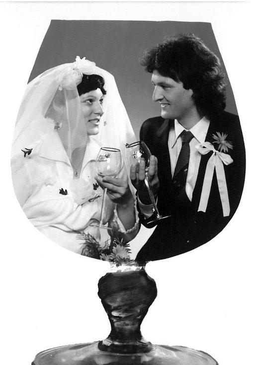 Soutěžní svatební pár číslo 228 - Vlasta a Miloslav Obdržálkovi, Otrokovice