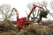 Z vánočních stromků v Uherském Hradišti vzniklo 32 tun štěpky.