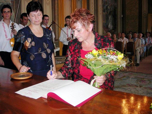 Ocenění Haně Špalkové.