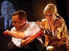Hra Macbeth ve Slováckém divadle v Uherském Hradišti.