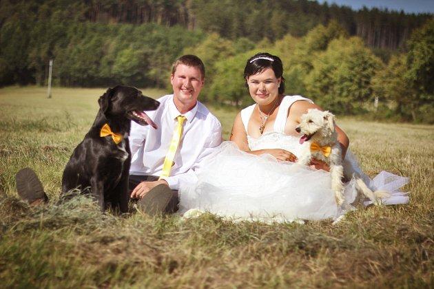 Soutěžní svatební pár číslo 119 - Kristýna a Petr Chybíkovi, Medlovice uUherského Hradiště