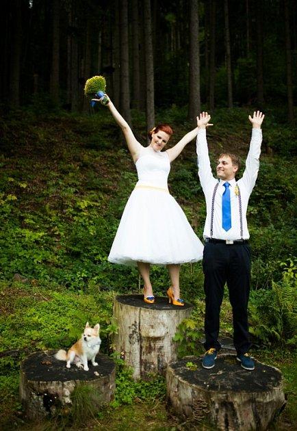 Soutěžní svatební pár číslo 255 - Gabriela a Jiří Divilovi, Přerov.