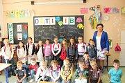 Na fotografii jsou žáci ze ZŠ UNESCO v Uherském Hradišti, třída 1.B paní učitelky Aleny Rumíškové.