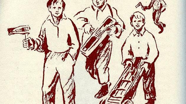 Ilustrace z knihy Olgy Vlasákové - velikonoční hrkání.