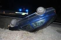 Namrzlá vozovka způsobila v těchto dnech na Uherskobrodsku hned dvě dopravní nehody.