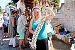 Festival česneku v areálu buchlovického zámku. Ilustrační foto