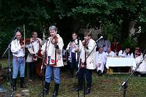 Horňáčtí muzikanti, kteří s Jarkem Miškeříkem hrávali.