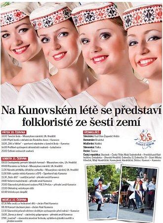 Program Kunovského léta.