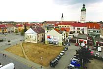 Moderní budova vyroste na nevyužitém prostoru mezi Mariánským náměstím a Zelným trhem.