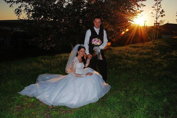 Soutěžní svatební pár číslo 203 - Jana a Lukáš Látalovi, Uherský Brod.