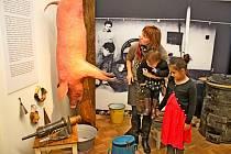 Děti ani rodiče se při letošnímrodinném programu ve Slováckém muzeu nenudili.