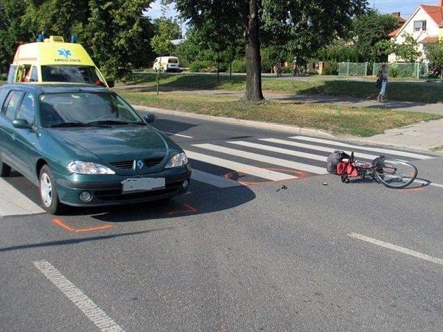 Srážka s autem na přechodu