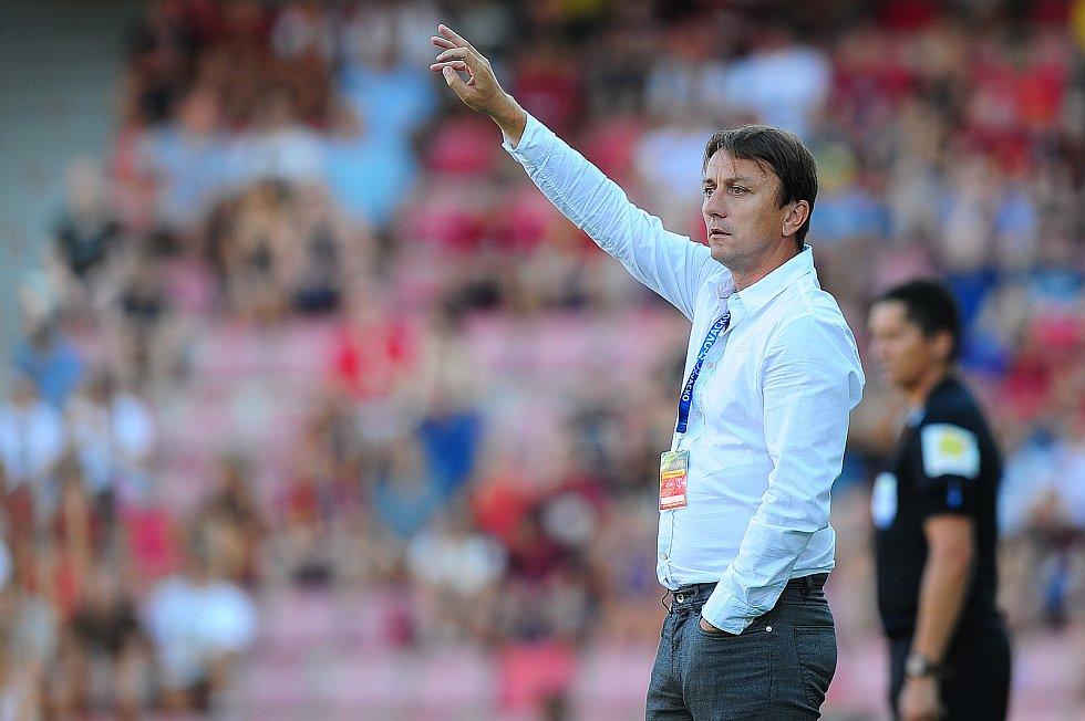 Fotbalové utkání Fortuna ligy mezi celky AC Sparta Praha  a 1. FC Slovácko 5. srpna v Praze. Michal Kordula.