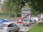 Silnice 1/55, podjezd mezi Kunovicemi a Uh. Hradištěm. Ilustrační foto.