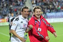 Trenér Miroslav Soukup (vpravo) prožil i s Petrem Švancarou během podzimu spoustu radostných chvilek.