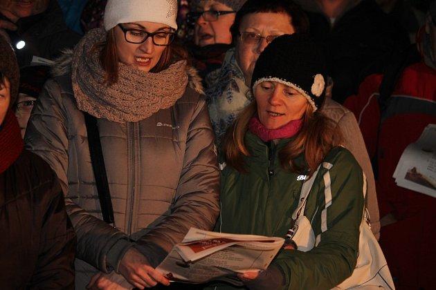 Česko zpívá koledy v Uherském Hradišti, 14. prosince 2016.