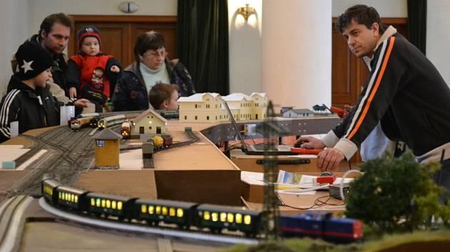 Hradišťská Reduta byla plná modelů vláčků i železničních doplňků.