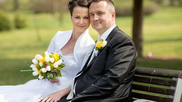 Soutěžní svatební pár číslo 144 - Adéla a Petr Fukalovi, Štarnov