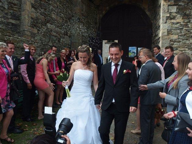 Soutěžní svatební pár číslo 161 - Zdeňka a Jan Vepřekovi, Olomouc.