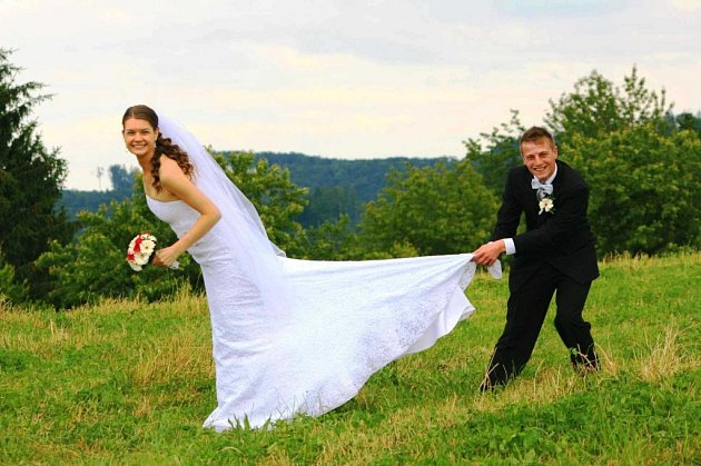 Soutěžní svatební pár číslo 246 - Markéta a Marek Holbovi, Nedašov.