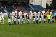 Fotbalisté Slovácka (v bílých dresech) proti Bohemians 1905