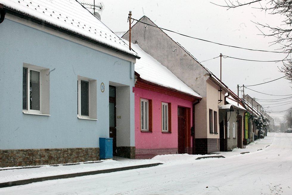 Horní Němčí v únoru 2021.