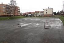 Sportoviště pro obyvatele Michalské ulice ve Starém Městě.