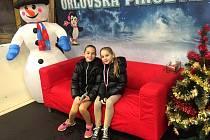 Sestry Martina a Andrea Pšurné (BK Uherský Brod) vybojovaly na Orlovské piruetě shodně stříbrné medaile.